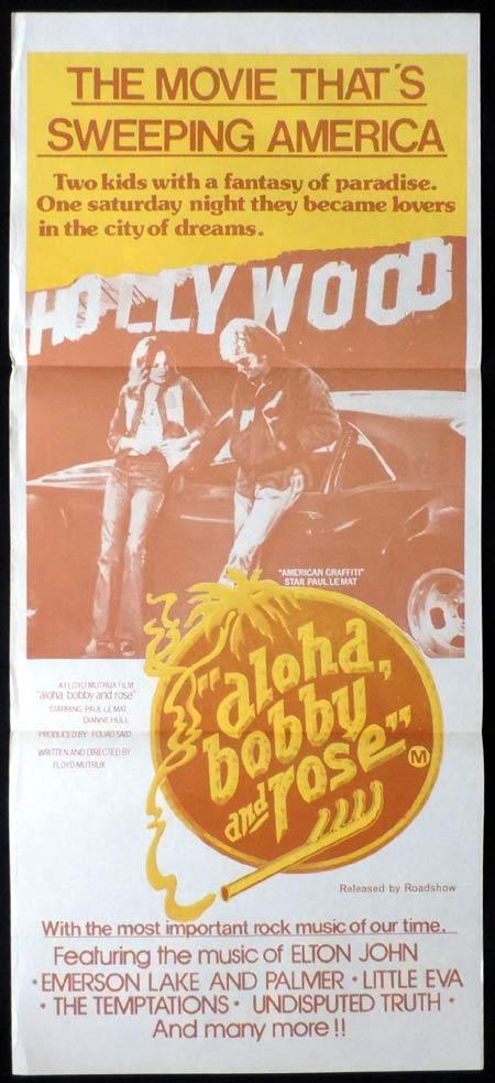 ALOHA BOBBY AND ROSE Original Daybill Movie Poster Paul LeMat Diane Hall