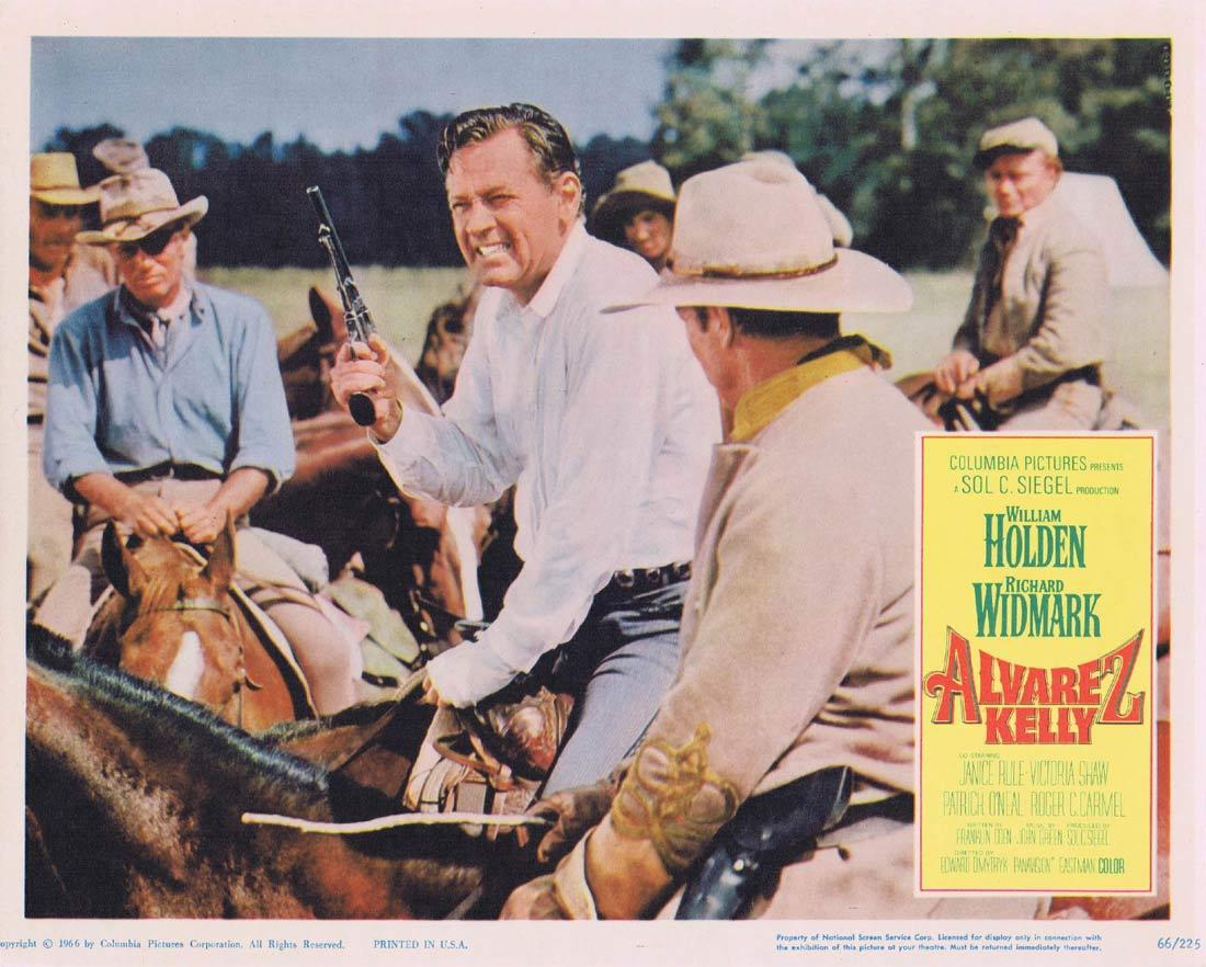 ALVAREZ KELLY Lobby Card 3 William Holden Richard Widmark