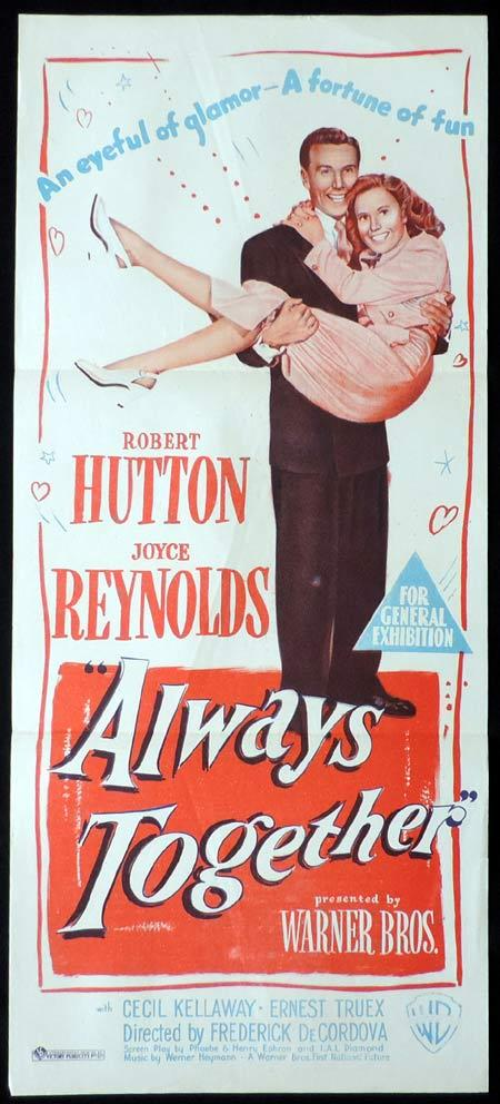 ALWAYS TOGETHER Original Daybill Movie Poster Joyce Reynolds Robert Hutton