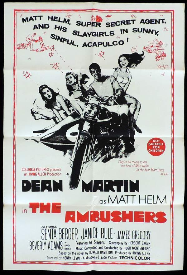 THE AMBUSHERS One Sheet Movie Poster Dean Martin