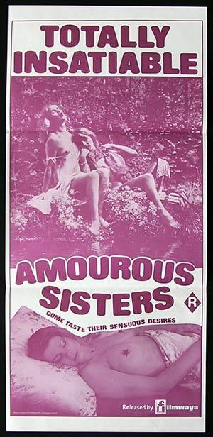 AMOUROUS SISTERS '70s-Rare SEXPLOITATION-poster