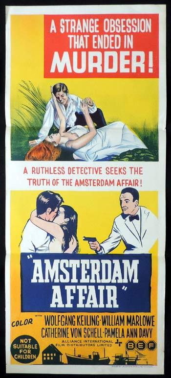 AMSTERDAM AFFAIR Daybill Movie poster William Marlowe