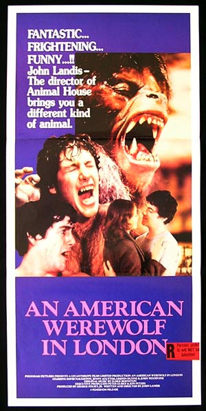 AN AMERICAN WEREWOLF IN LONDON Daybill Movie Poster
