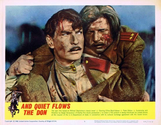 AND QUIET FLOWS THE DON 1960 Russian Cinema Classic US Lobby card 5