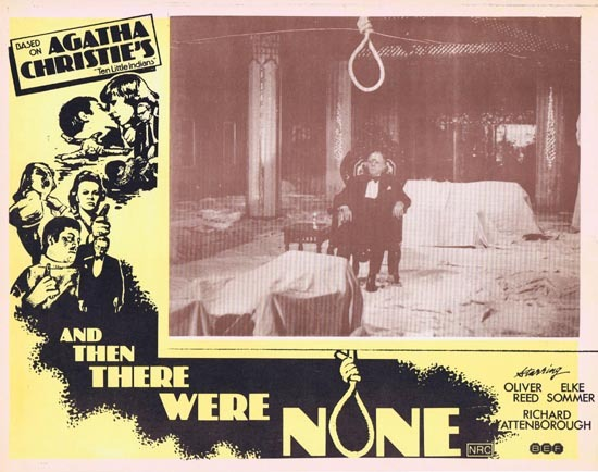 AND THEN THERE WERE NONE Lobby Card 2 1974 Agatha Christie Ten Little Indians