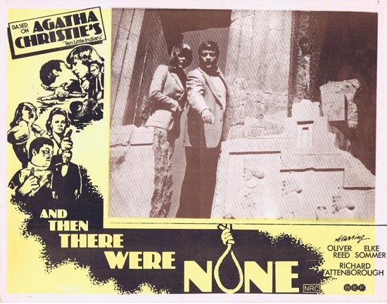 AND THEN THERE WERE NONE Lobby Card 8 1974 Agatha Christie Ten Little Indians