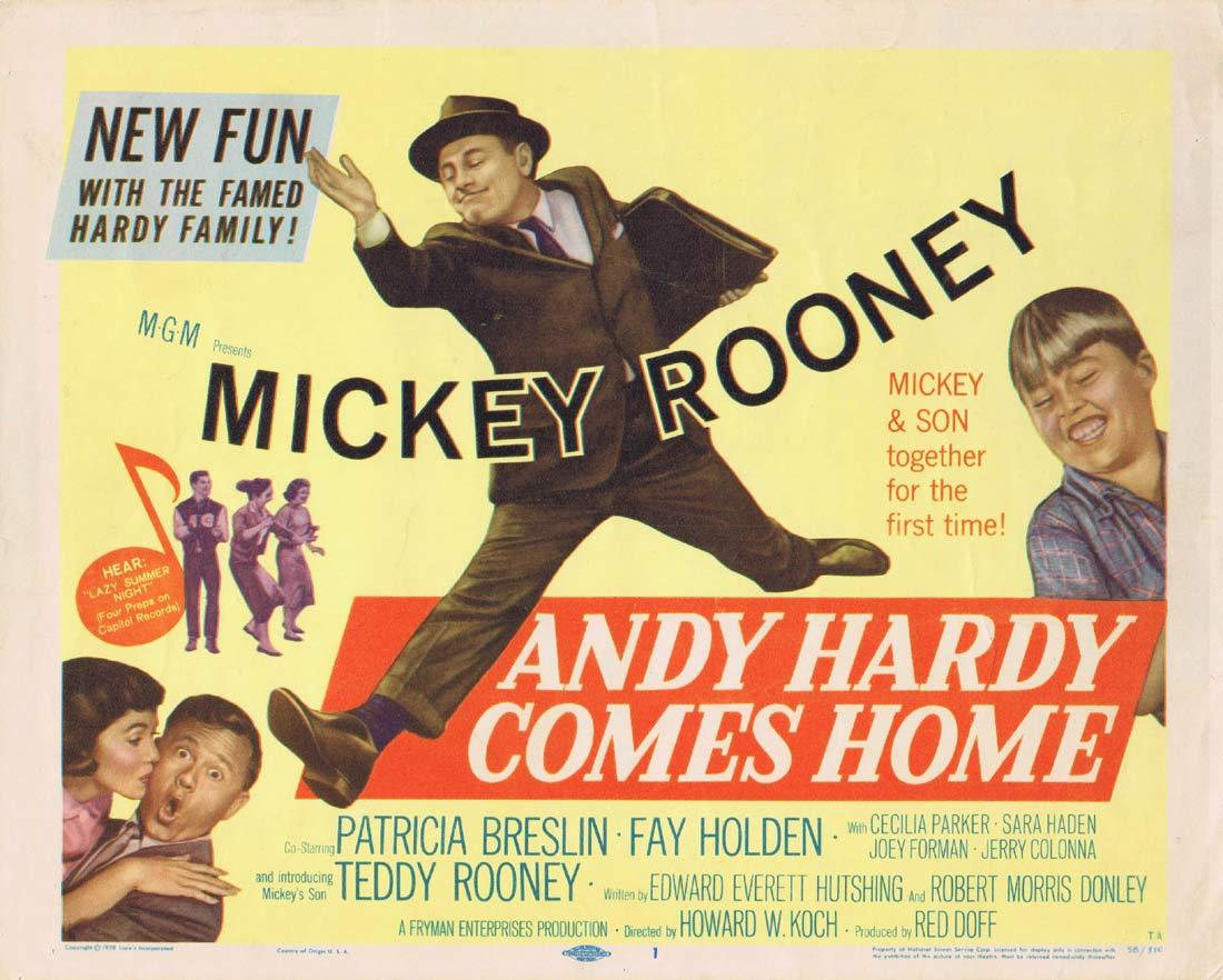 ANDY HARDY COMES HOME Original Title Lobby Card