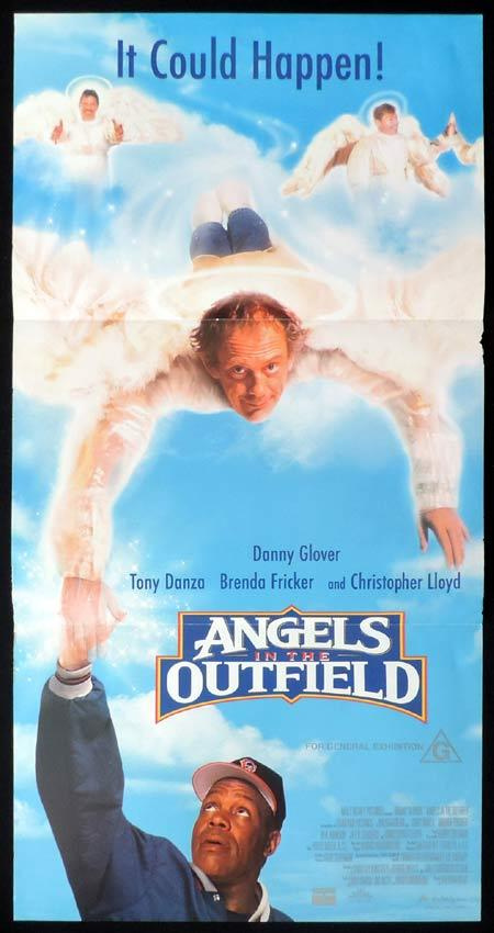ANGELS IN THE OUTFIELD Original Daybill Movie Poster Danny Glover Christopher Lloyd