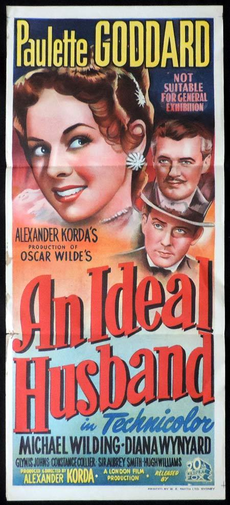 An Ideal Husband, Alexander Korda, Paulette Goddard, Michael Wilding, Diana Wynyard, Hugh Williams