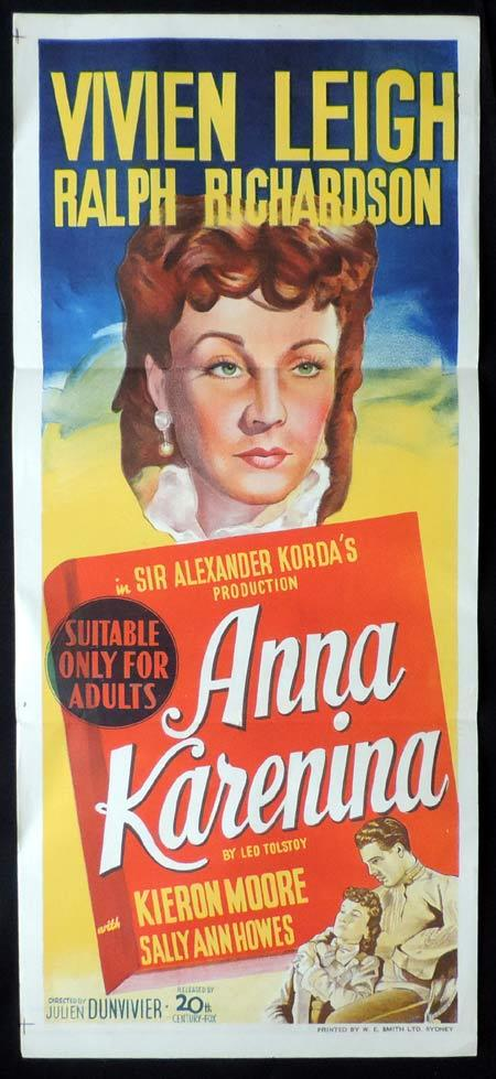 ANNA KARENINA Original Daybill Movie Poster Vivien Leigh Ralph Richardson