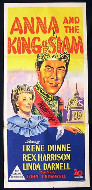 Anna and the King of Siam, John Cromwell, Irene Dunne, Rex Harrison, Linda Darnell, Lee J. Cobb, John Abbott, Gale Sondergaard, Dennis Hoey, Leonard Strong, Mikhail Rasumny, Mickey Roth, Richard Lyon, William Edmunds, Connie Leon
