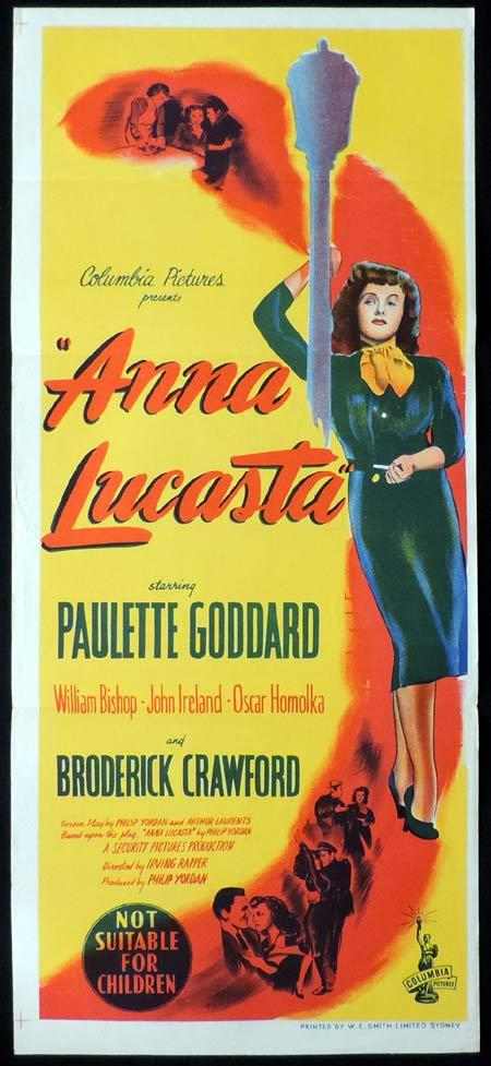 Anna Lucasta, Irving Rapper, Paulette Goddard, William Bishop, Oskar Homolka, John Ireland