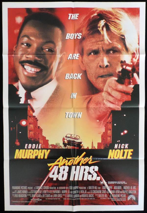 ANOTHER 48 HOURS One Sheet Movie Poster Nick Nolte Eddie Murphy