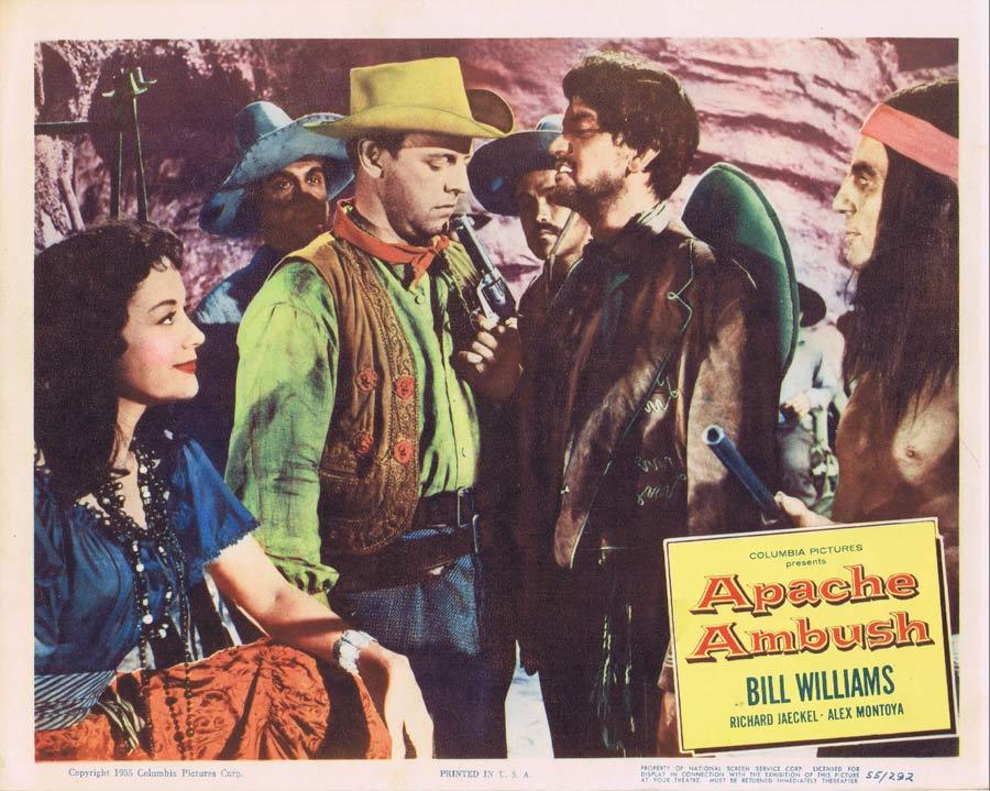 APACHE AMBUSH Lobby Card 5 1955 Bill Williams American Indian