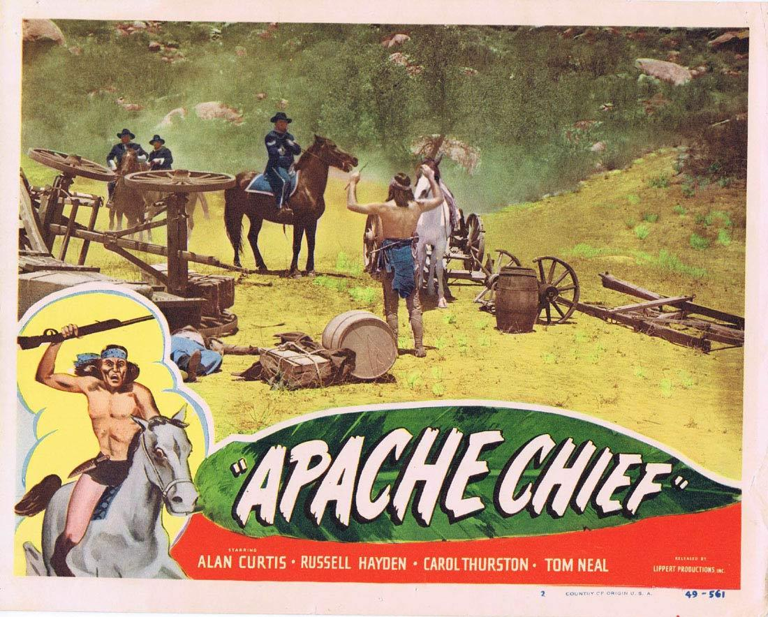 APACHE CHIEF Lobby Card 2 Alan Curtis Tom Neal Russell Hayden