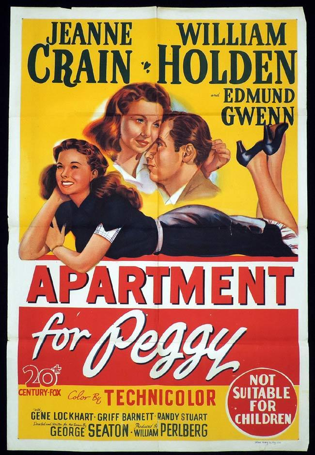 APARTMENT FOR PEGGY One Sheet Movie Poster Paul Douglas Grace Kelly