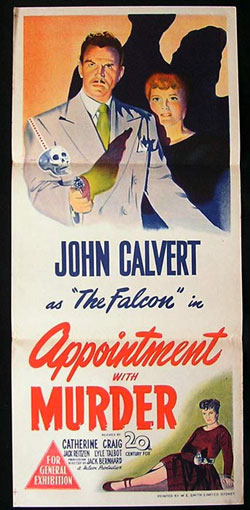 APPOINTMENT WITH MURDER Daybill Movie Poster 1948 Calvert as The Falcon FILM NOIR