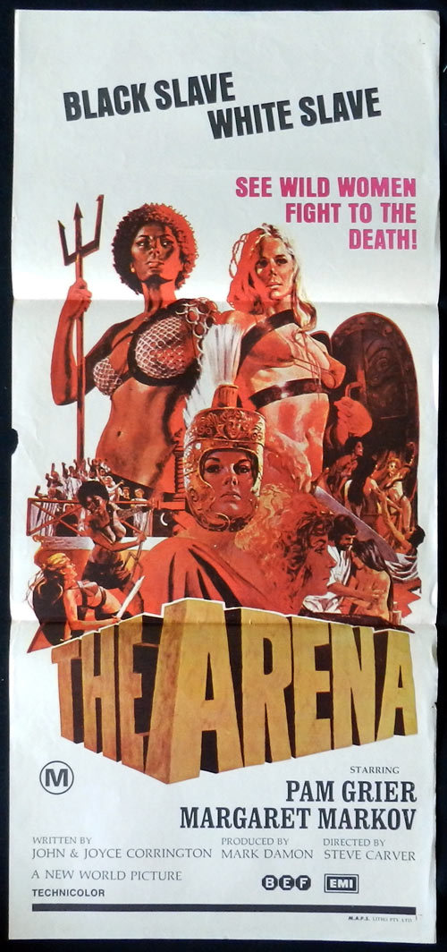 THE ARENA Pam Grier Daybill Movie poster Black Slave White Slave! Bad girl