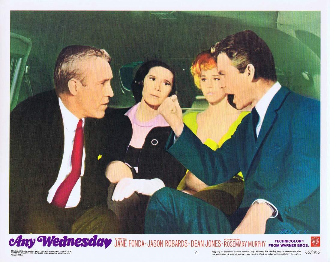 ANY WEDNESDAY Lobby Card 2 Jane Fonda Jason Robards Dean Jones Rosemary Murphy