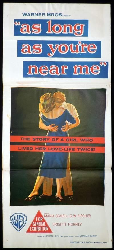 As Long As You Re Near Me Daybill Movie Poster Brigitte Horney