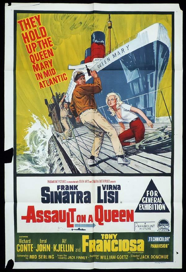 ASSAULT ON A QUEEN One Sheet Movie Poster Frank Sinatra Queen Mary
