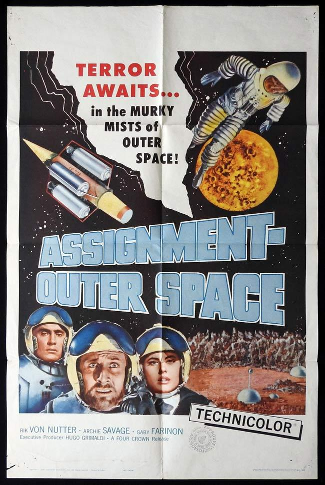ASSIGNMENT OUTER SPACE Original One sheet Movie Poster SCI FI Rik Van Nutter