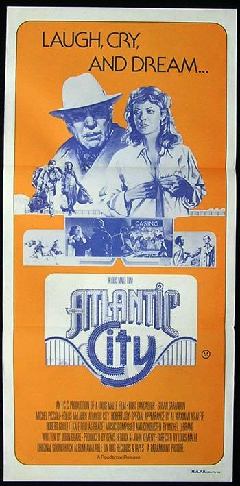 ATLANTIC CITY Original Daybill Movie poster Burt Lancaster