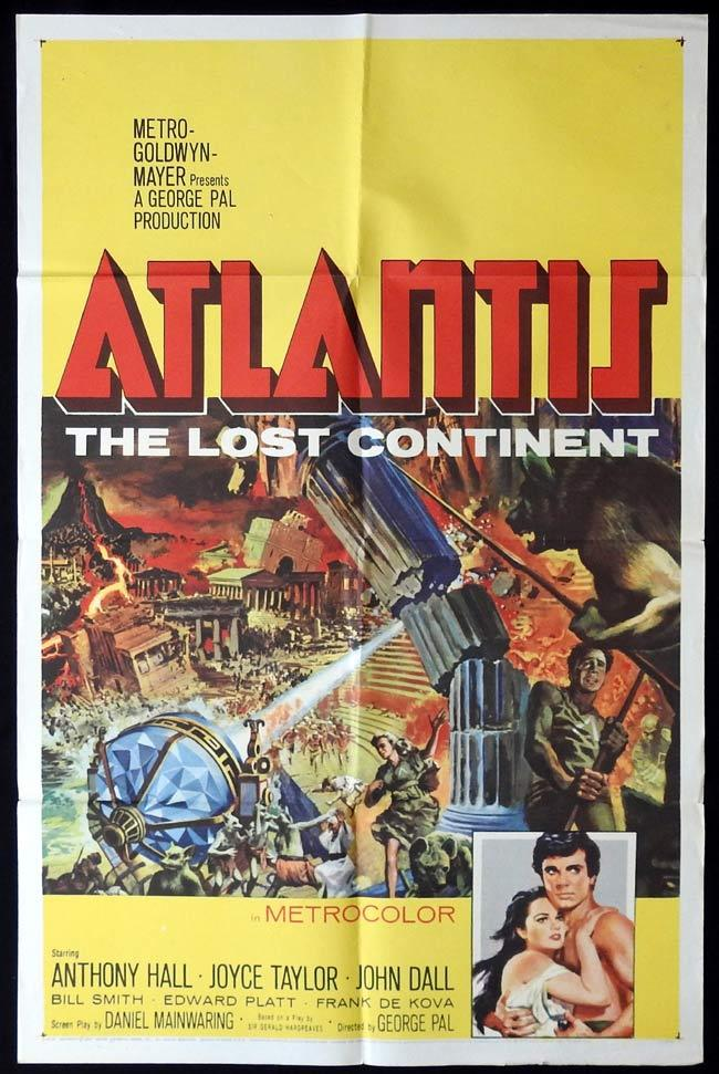 ATLANTIS THE LOST CONTINENT Original One sheet Movie Poster George Pal