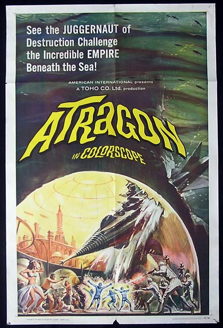 ATRAGON, 1964, US one sheet, Movie poster, Ishiro Honda, JAPANESE, SCI FI