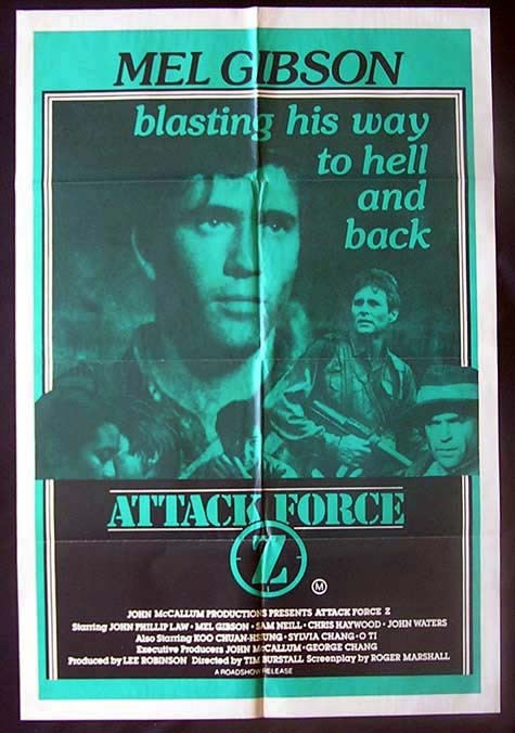 ATTACK FORCE Z Mel Gibson Sam Neill Australian One sheet Movie Poster - ATTACK FORCE Z (1982)