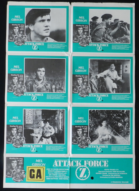 ATTACK FORCE Z Mel Gibson Sam Neill Australian Photo sheet Movie Poster - ATTACK FORCE Z (1982)