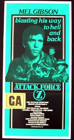 ATTACK FORCE Z Daybill Movie Poster Mel Gibson Sam Neill