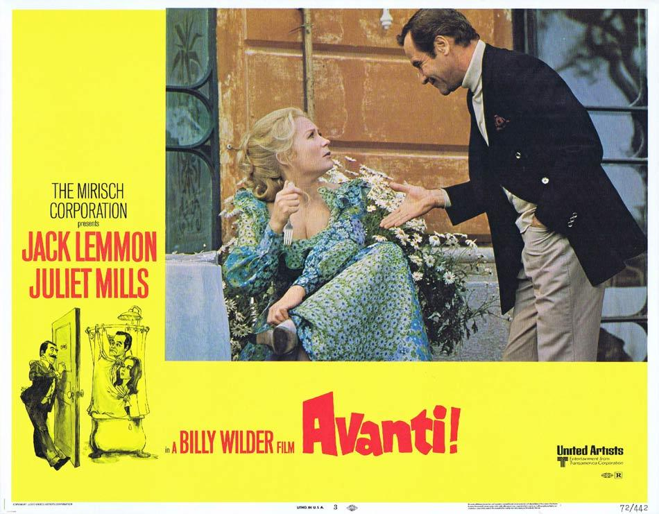 AVANTI Lobby Card 3 Billy Wilder Jack Lemmon Juliet Mills