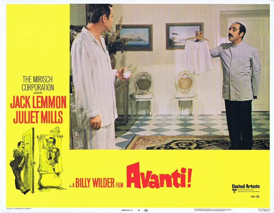 AVANTI Lobby Card 4 Billy Wilder Jack Lemmon Juliet Mills