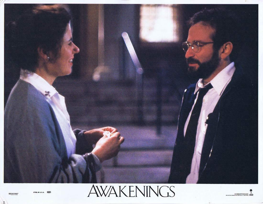 AWAKENINGS Lobby Card 2 Robert De Niro Robin Williams
