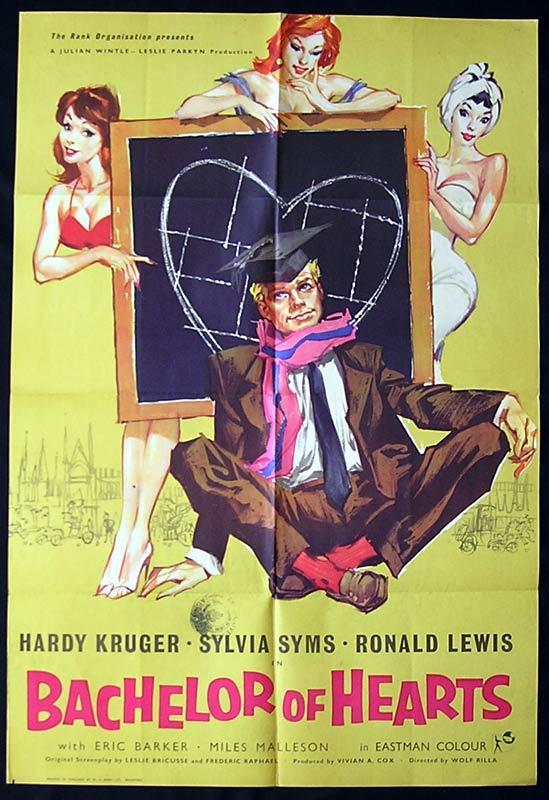BACHELOR OF HEARTS British One Sheet Movie Poster Hardy Kruger