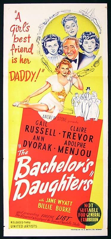 THE BACHELOR'S DAUGHTERS Daybill Movie Poster Adolphe Menjou