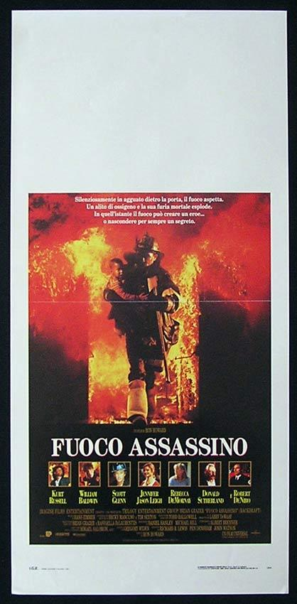 BACKDRAFT Italian Locandina Movie Poster Ron Howard Kurt Russell