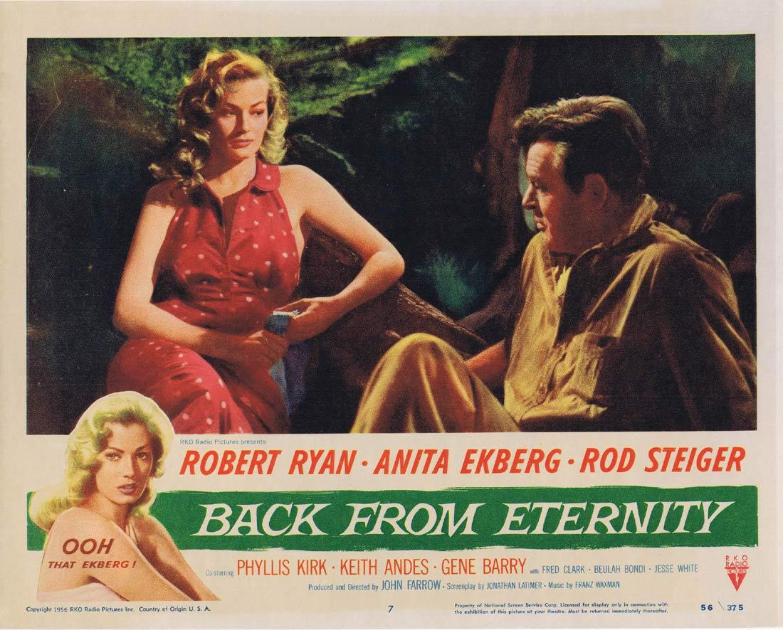 BACK FROM ETERNITY Lobby Card 7 Robert Ryan Anita Ekberg Rod Steiger Phyllis Kirk