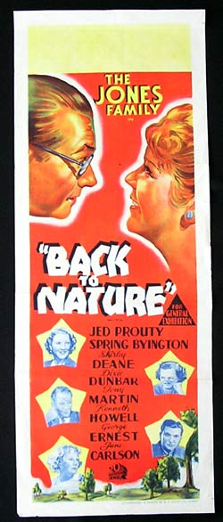 BACK TO NATURE Long Daybill Movie poster The Jones FamilyYosemite
