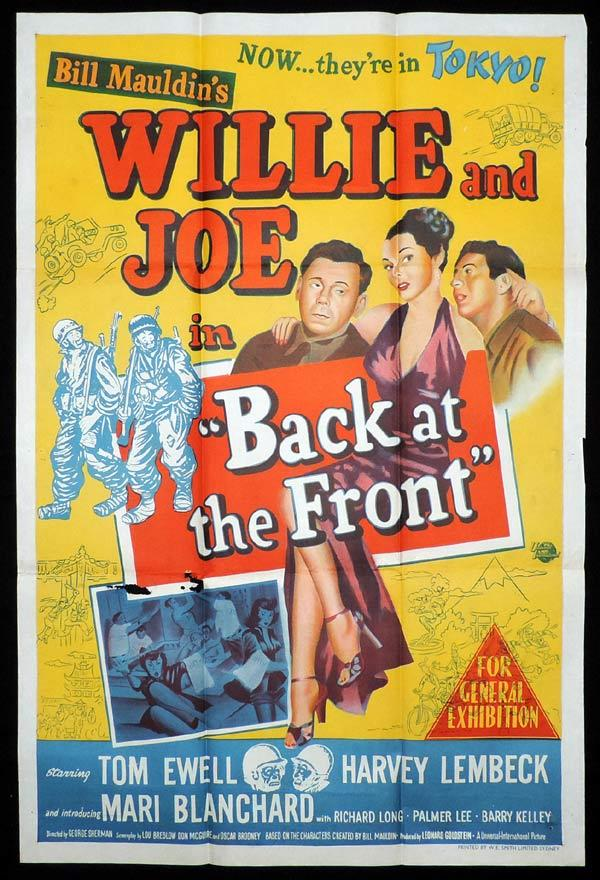 BACK AT THE FRONT One Sheet Movie Poster Willie and Joe Tom Ewell