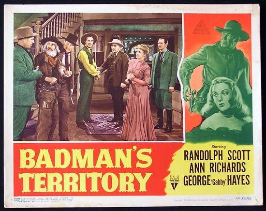 Ford Territory Review >> BADMANS TERRITORY 1946 Randoph Scott RKO Lobby Card 5