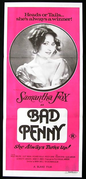 BAD PENNY '78-Samantha Fox-Sexploitation poster