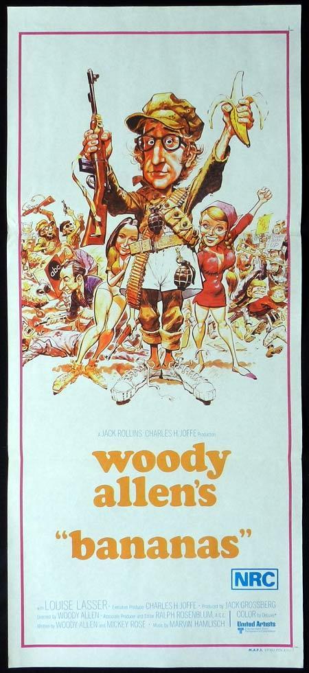 BANANAS Original Daybill Movie Poster JACK DAVIS ART Woody Allen