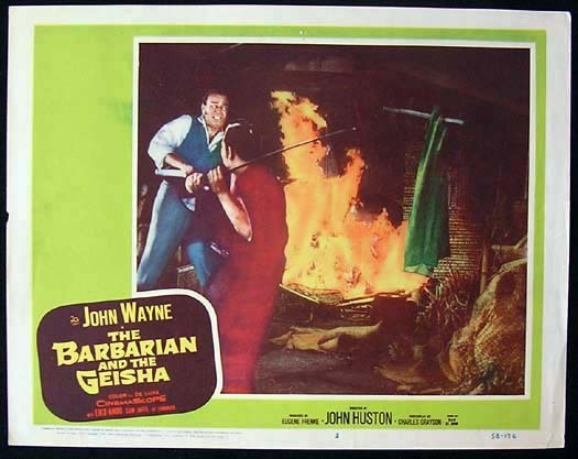 THE BARBARIAN AND THE GEISHA John Wayne ORIGINAL US Lobby card 2