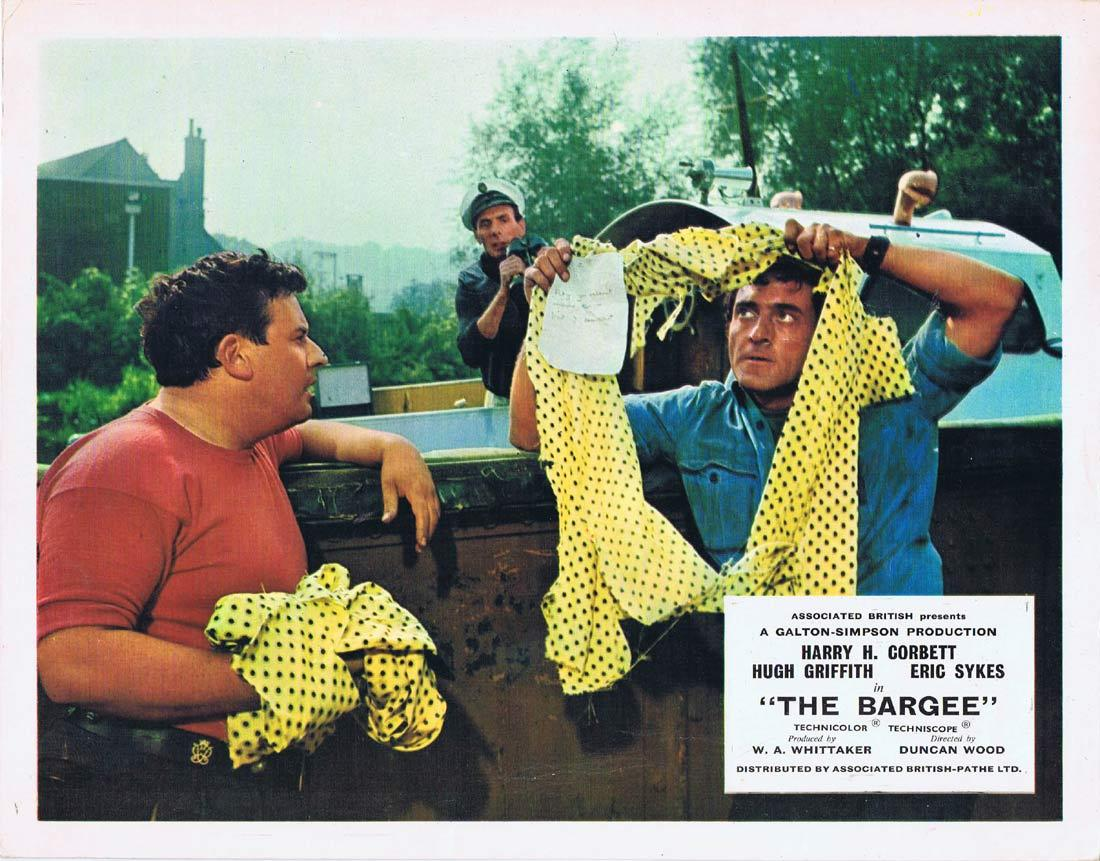 THE BARGEE Vintage Lobby Card Harry H. Corbett Hugh Griffith Eric Sykes