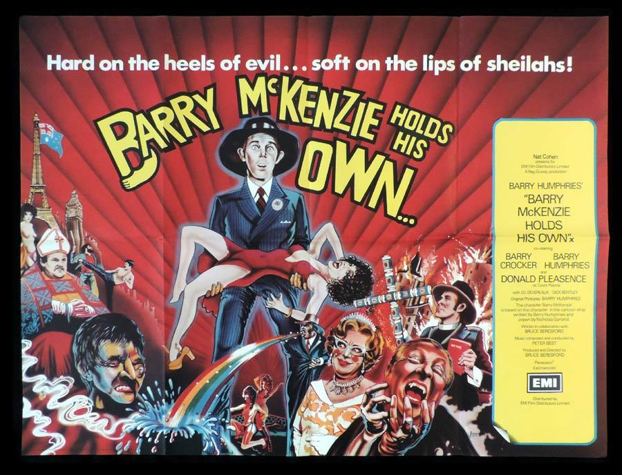 BARRY MCKENZIE HOLDS HIS OWN British Quad Movie poster Barry Humphries