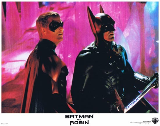 BATMAN AND ROBIN 1997 Lobby Card 2 Arnold Schwarzenegger George Clooney