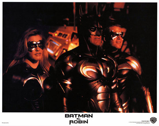 BATMAN AND ROBIN 1997 Lobby Card 4 Arnold Schwarzenegger George Clooney