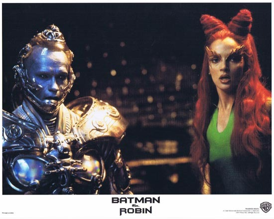 BATMAN AND ROBIN 1997 Lobby Card 5 Arnold Schwarzenegger George Clooney